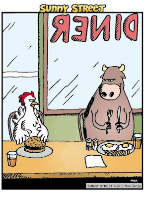 funny comic, funny animals, vegetarian humor, vegan comic