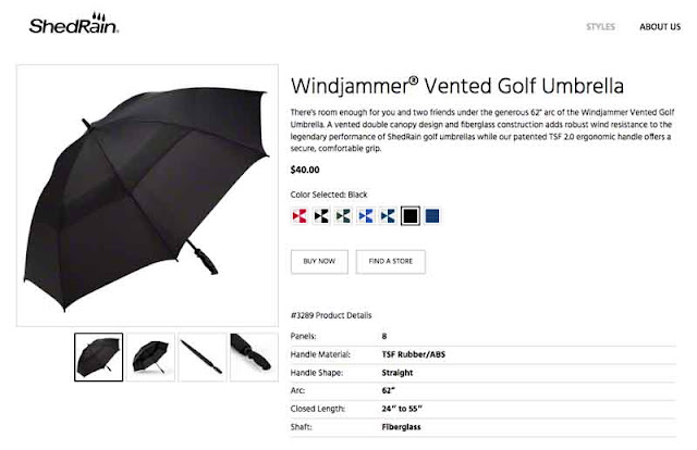 "screenshot of 62"" umbrella, black"