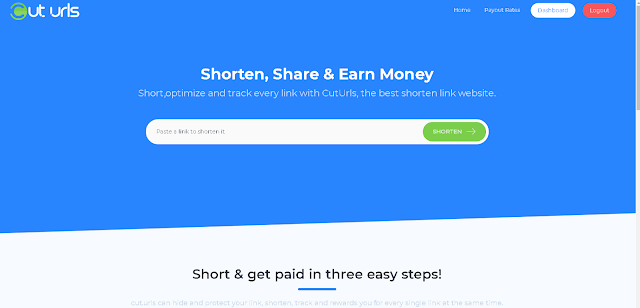 Cut-urls.com Review - Rate,Payment Proof , Make Money With Shortening URL