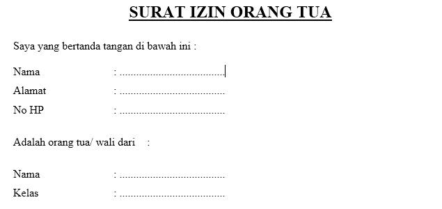 contoh surat izin orang tua saipul hendra