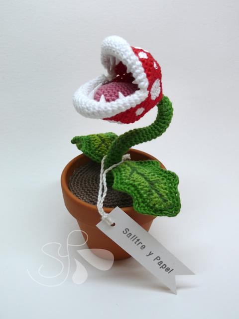 Planta Piraña amigurumi