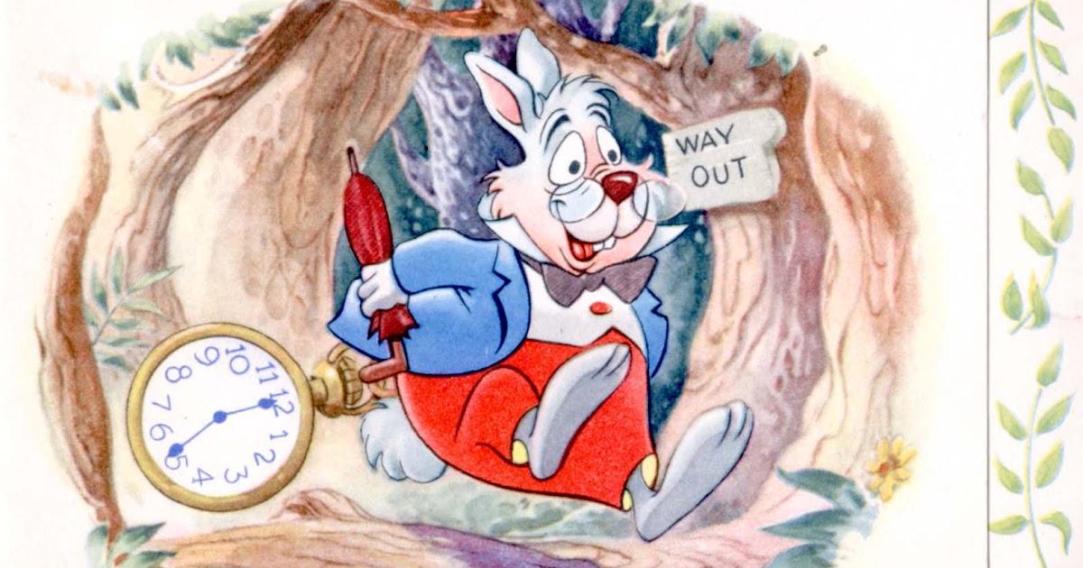 Vintage Disney Alice In Wonderland White Rabbit Get Well