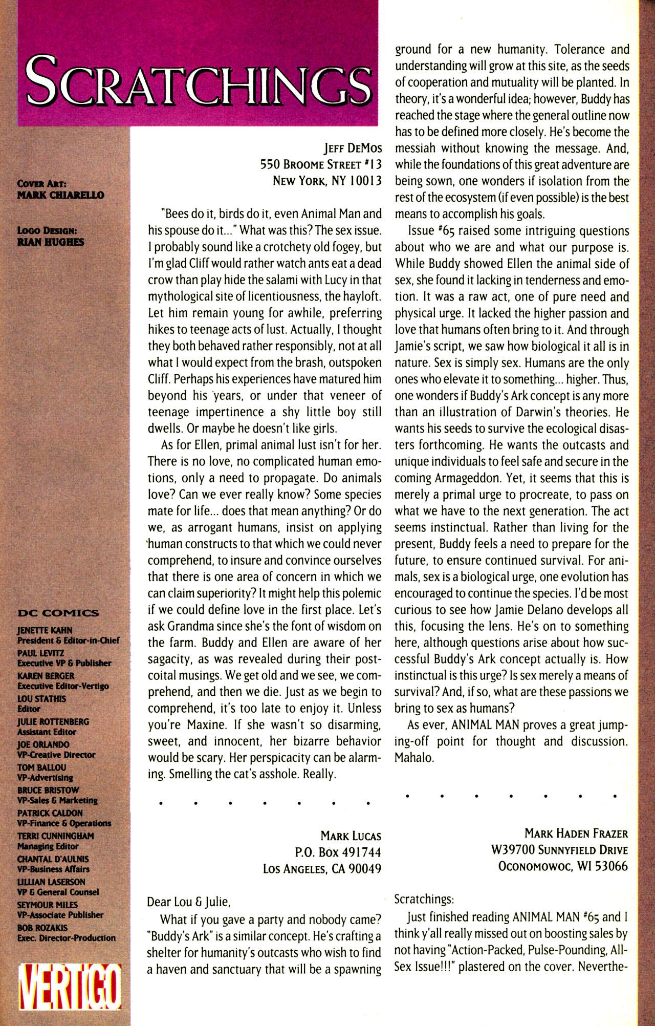 Read online Animal Man (1988) comic -  Issue #72 - 26