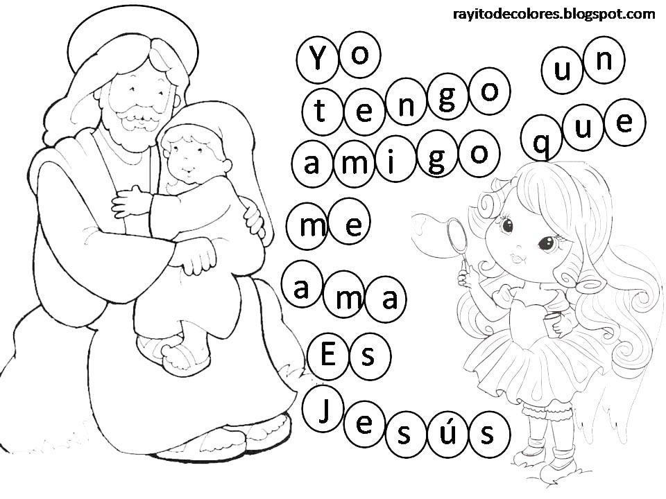 Jesus Me Ama Colorear | www.imagenesmy.com