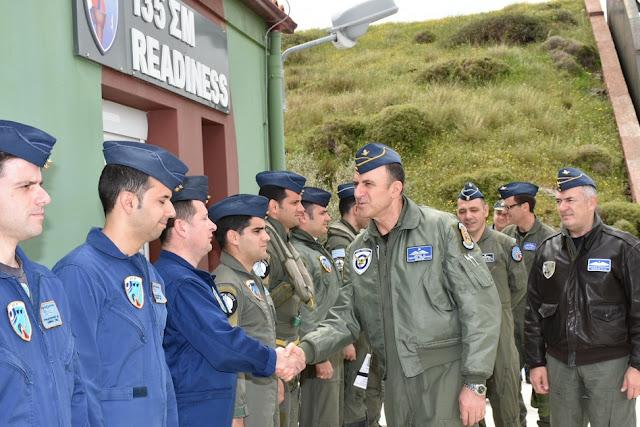 Επίσκεψη του Αρχηγού ΓΕΑ Γεωργίου Μπλιούμη στην 135ΣΜ