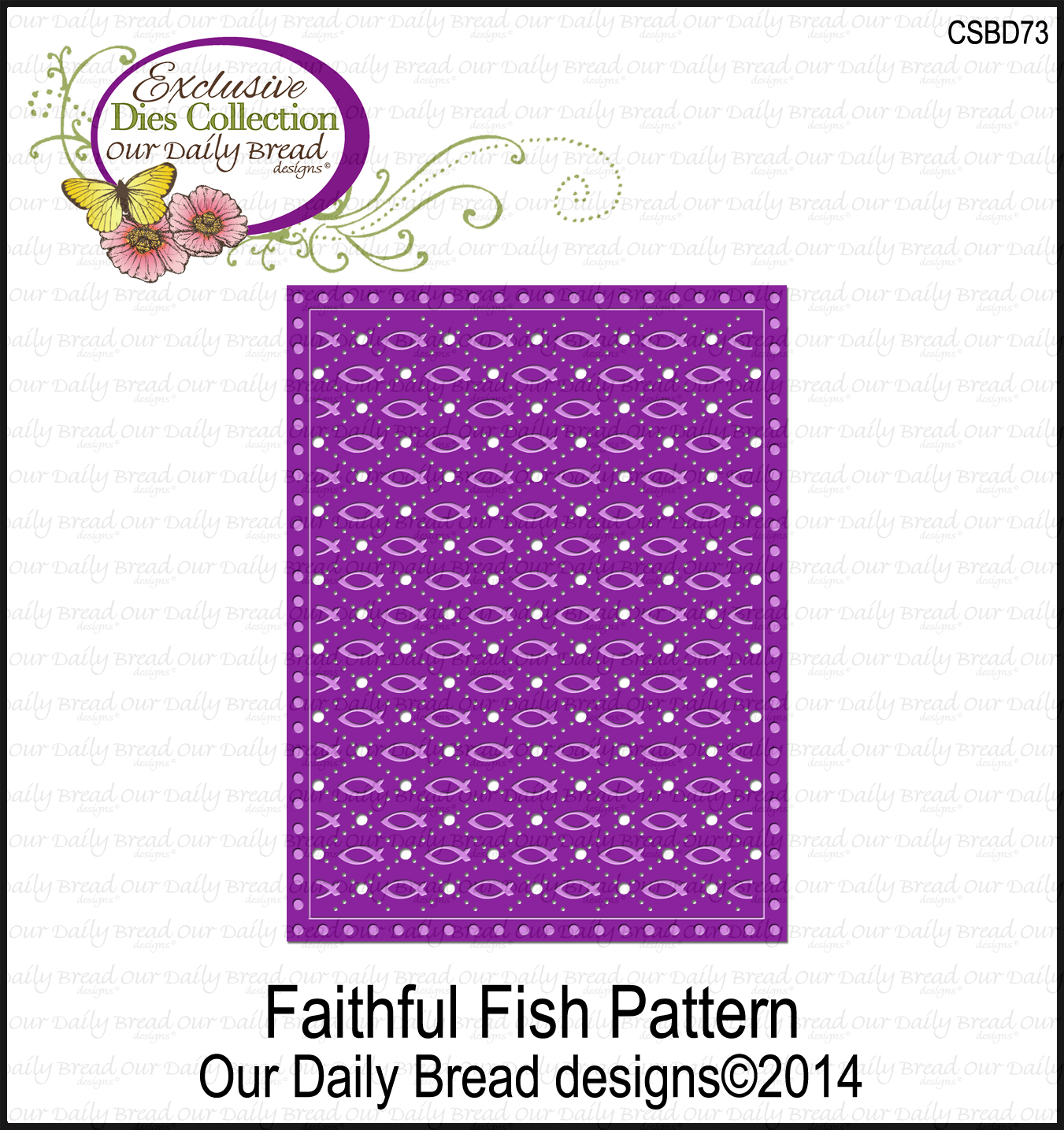 Our Daily Bread Designs Faithful Fish Pattern Die