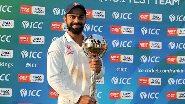 भारतीय क्रिकेट टीम आईसीसी की नंबर वन टेस्ट टीम है