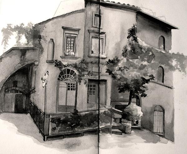 05-Malisa-Suchanya-Enchanting-Architectural-Drawings-of-Viterbo-Italy-www-designstack-co