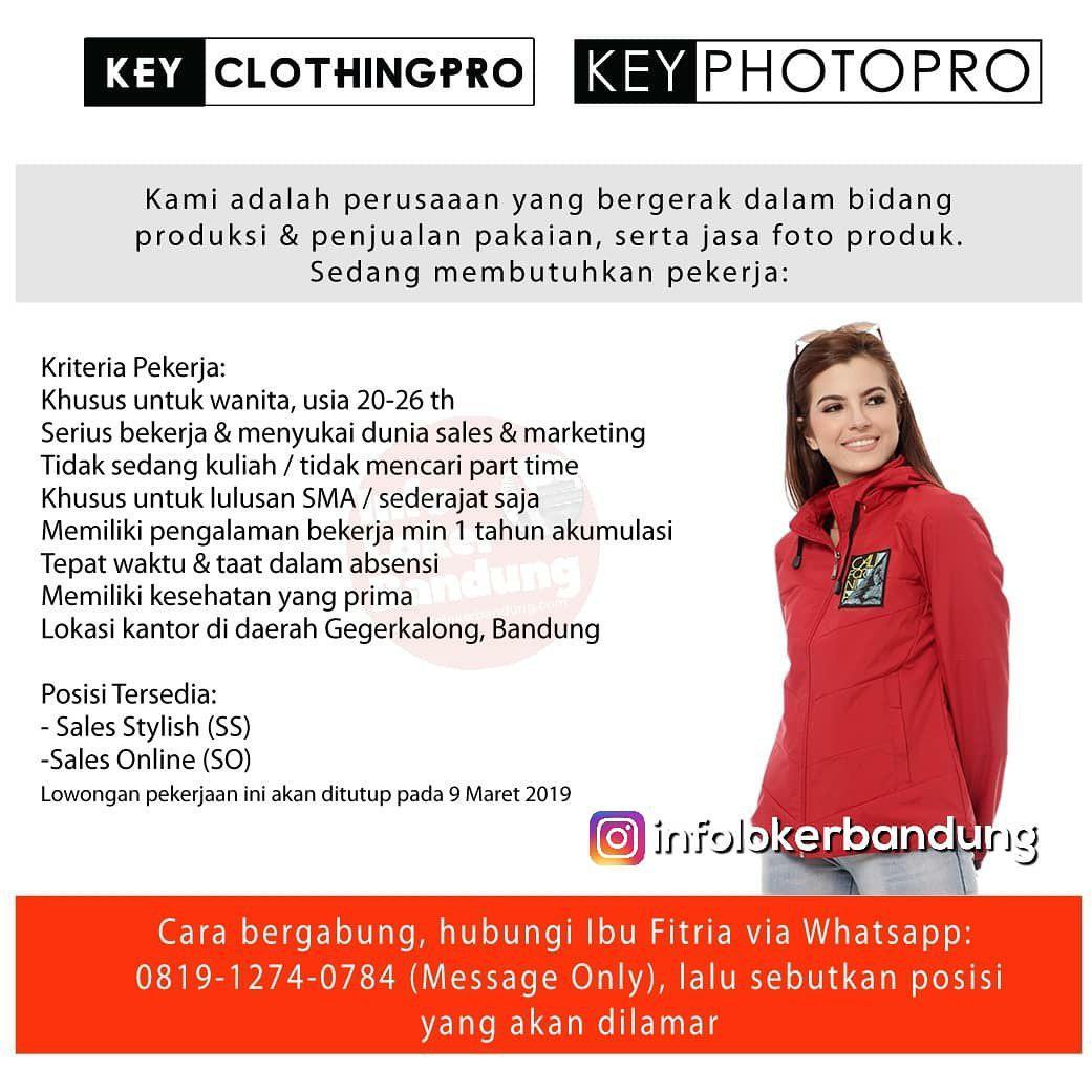 Lowongan Kerja Key Clothing Pro Bandung Maret 2019