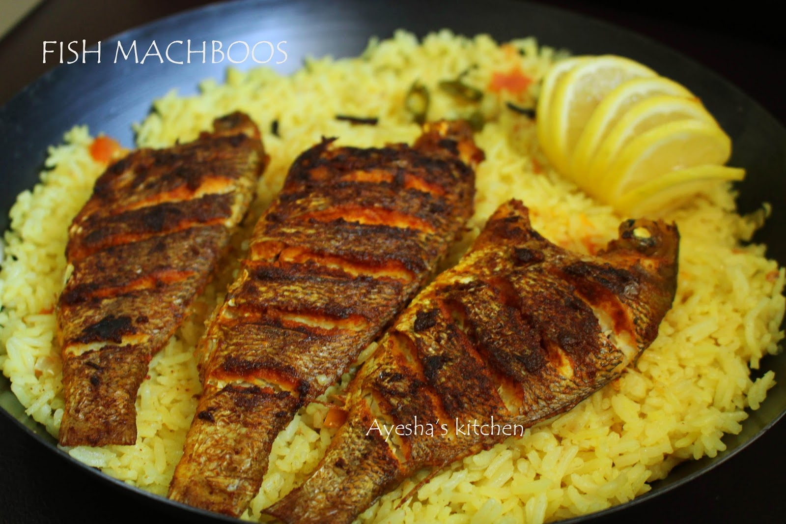 Fish machboos machbous traditional bahraini dish for Rice recipes for fish