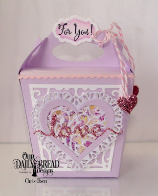 Our Daily Bread Designs Stamp Set: Let Love Grow, Our Daily Bread Designs Custom Dies: Glorious Gable Box, Heavenly Hearts, Layering Hearts, Antique Labels, Bitty Borders, Love Script, Tulip Heart