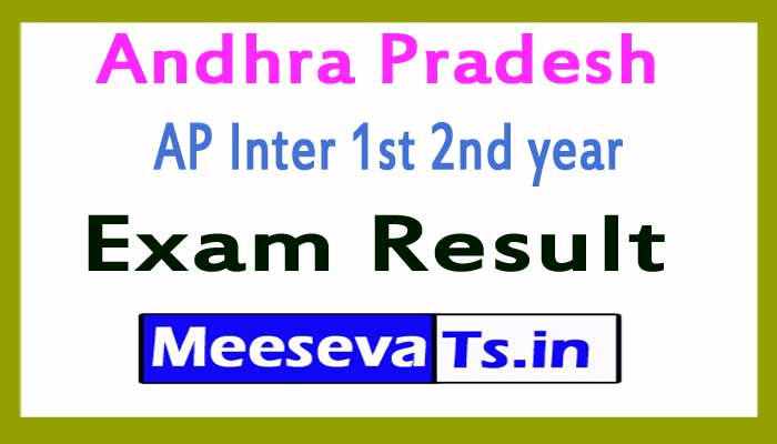 Andhra Pradesh AP Inter 1st 2nd year Exam Results 2019