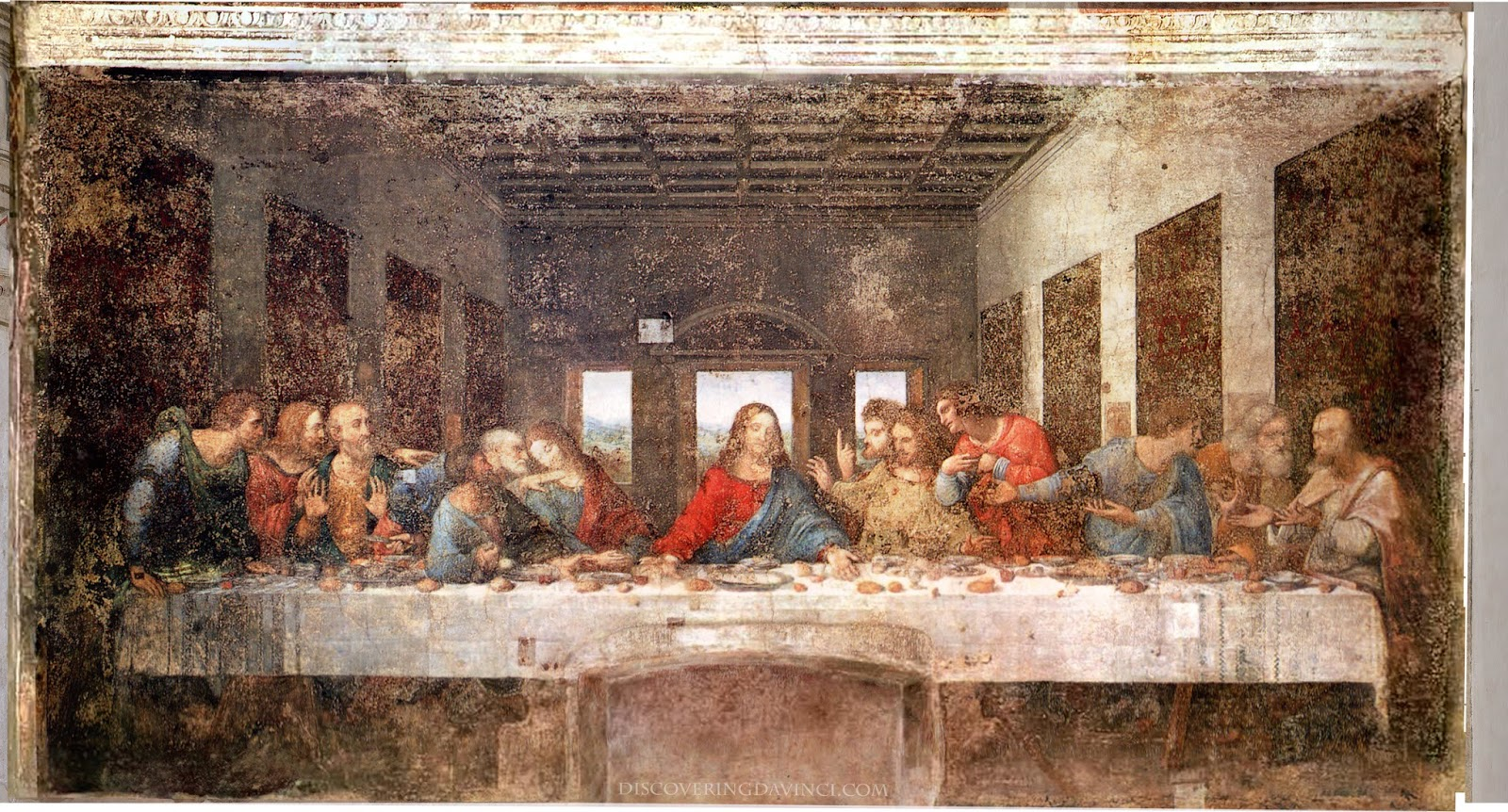 The Last Supper Pre vs Post Restorations Da Vinci Last Supper Restored