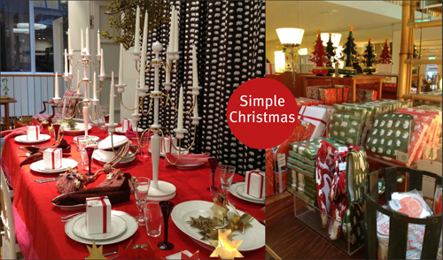 Stockholm, a pilgrimage to design store Svenskt Tenn, Simple Christmas table