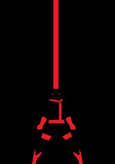 cartel minimalista  de super héroe Ciclope