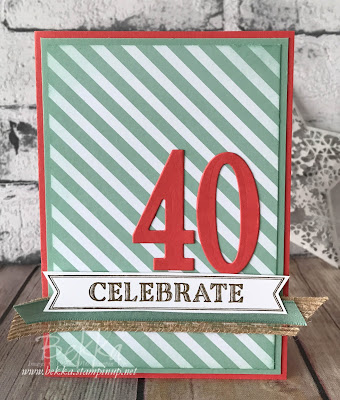 Happy 40th Birthday Card made with Stampin' Up! UK Supplies which you can get here