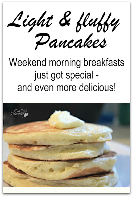 These light and fluffy pancakes will make your weekend breakfasts special!