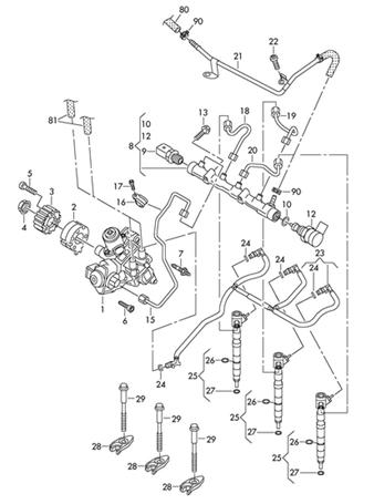 Injection Automotive 28231462 Delphi Injector Common Rail