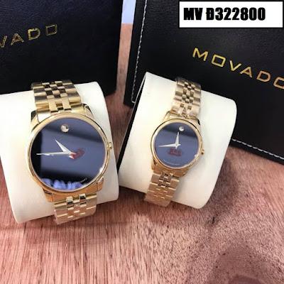 Đồng hồ đeo tay cặp đôi Movado MV Đ322800
