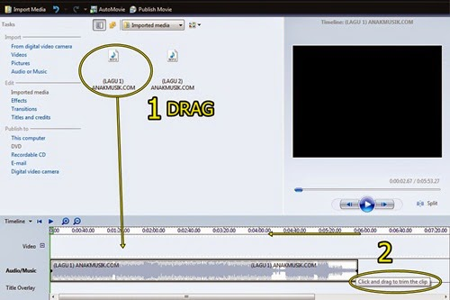 Cara Memotong Lagu MP3 di Movie Maker