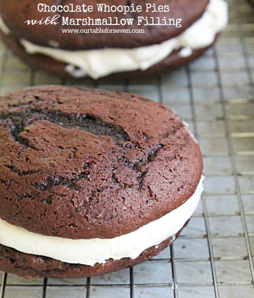 Chocolate Whoopie Pies with Marshmallow Filling