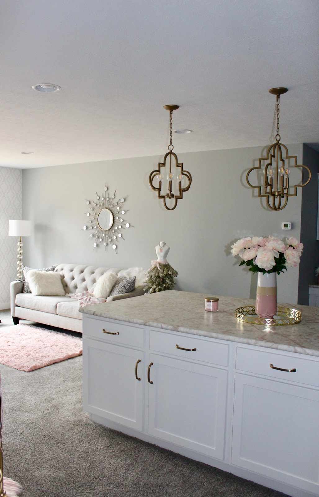 Every girl needs a little glam and Andrea at Living on Cloud Nine has included some rooms just for her!