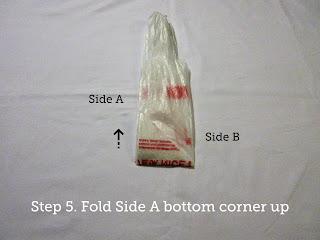 Step 5. Fold Side A bottom corner up.