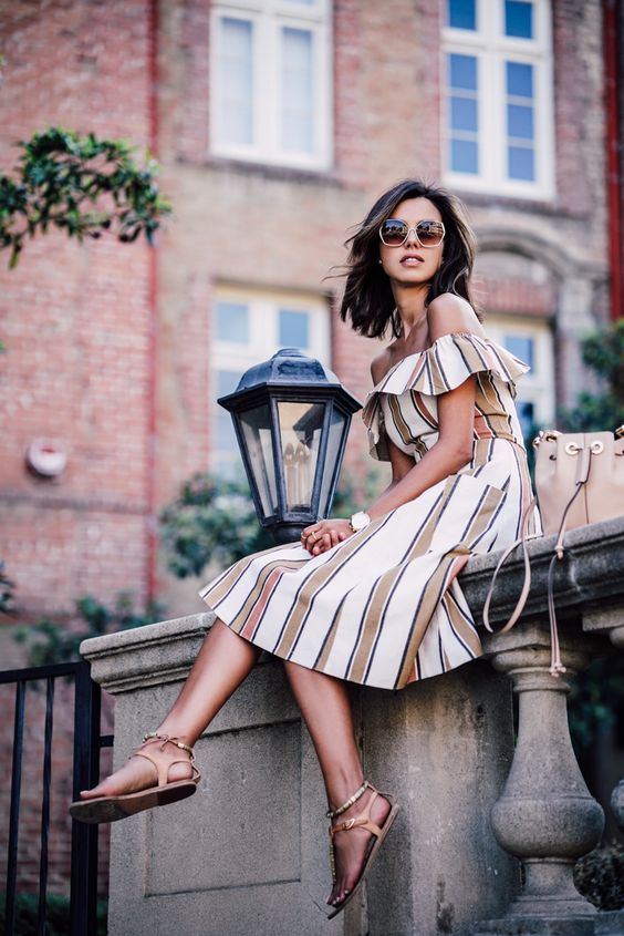 Summer Looks Stripes Dresses and Skirts