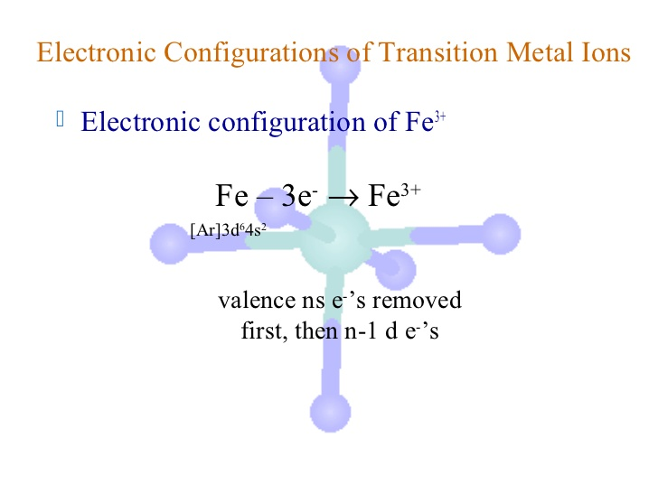in the ground-state electron configuration of fe3+, how ...