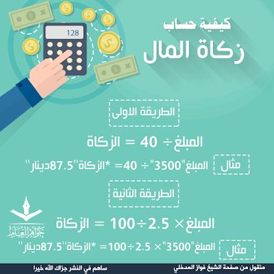 كيفية حساب زكاة المال