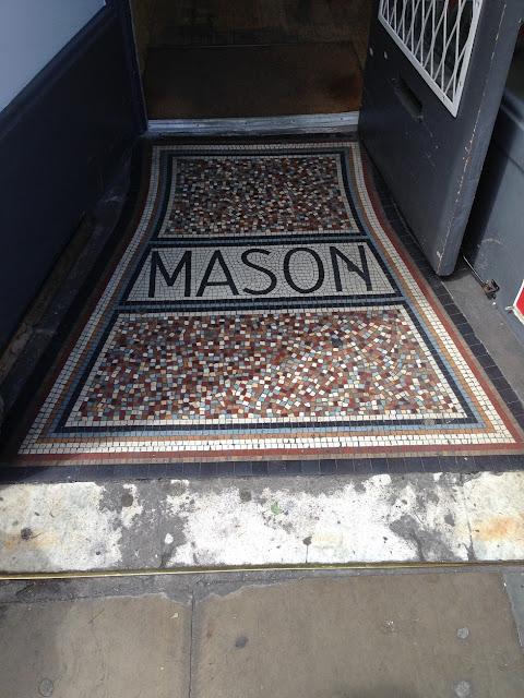 Doorway mosaic, Islington, London N1