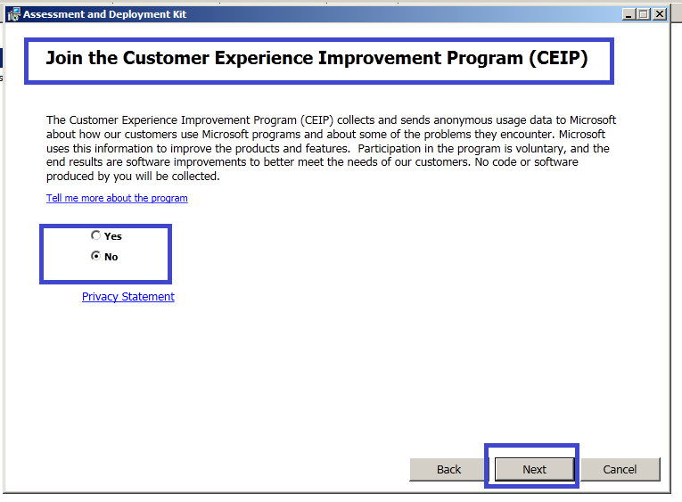 Installing Windows ADK for SCCM 2012 SP1