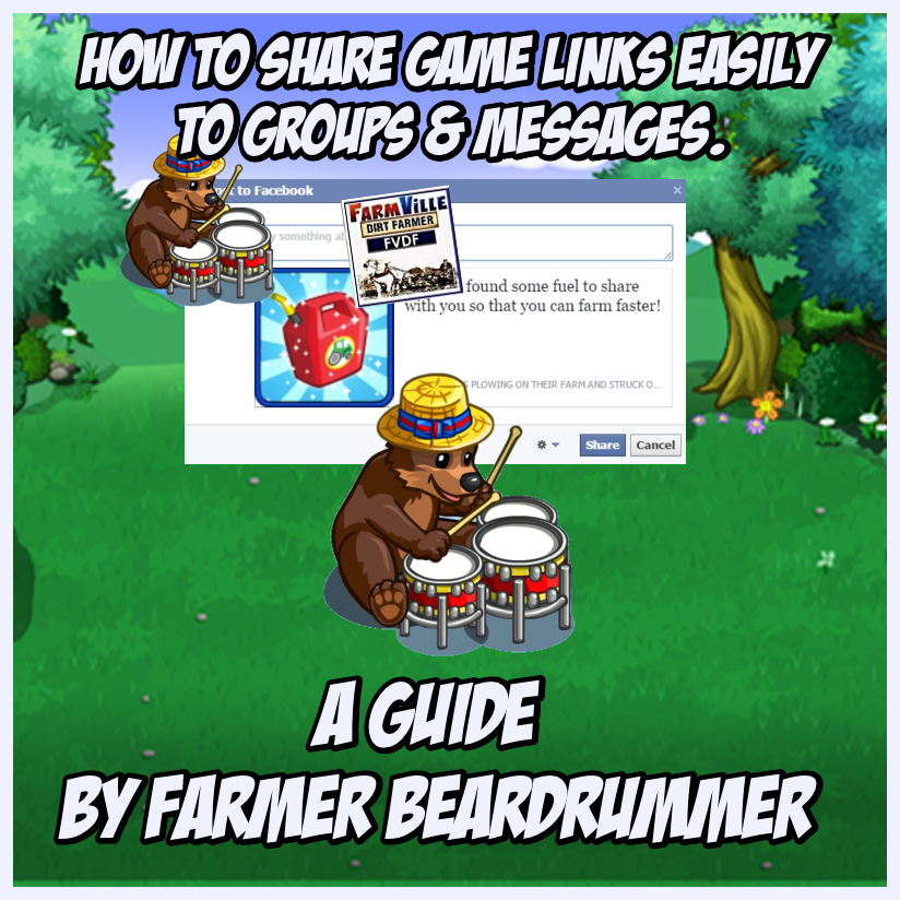How To Post Links To Farmville Chat, Messages or Groups