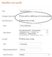 grace bailhache blogger modifier profil