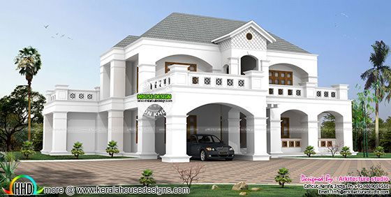 3750 sq-ft 5 bedroom home plan