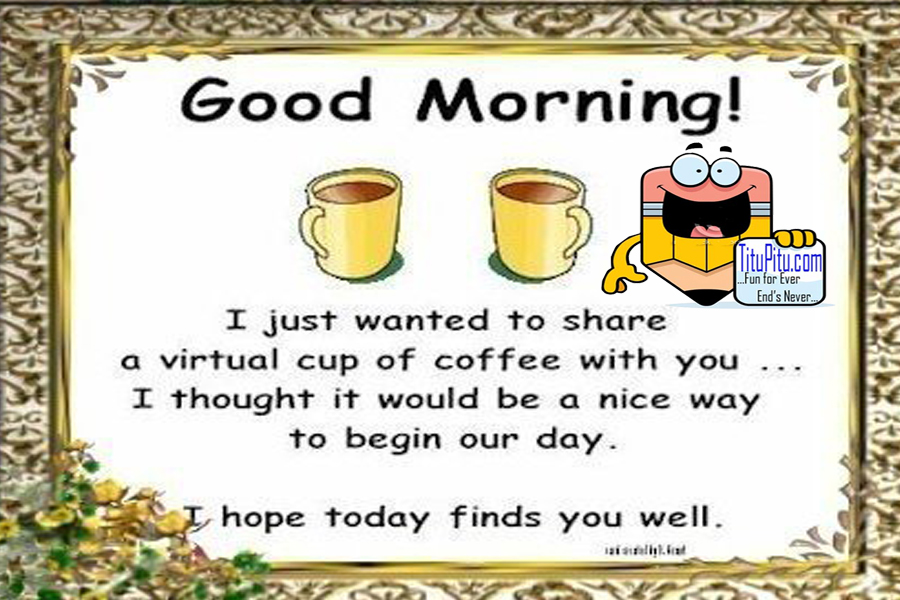 Good Morning Funny Messages: Good Morning Msg - Titu Pitu
