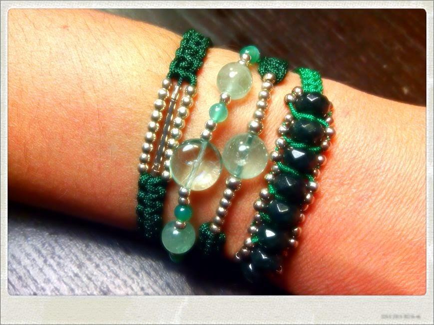 Pulsera plata jade fluorita agata joyería artesanal personalizada