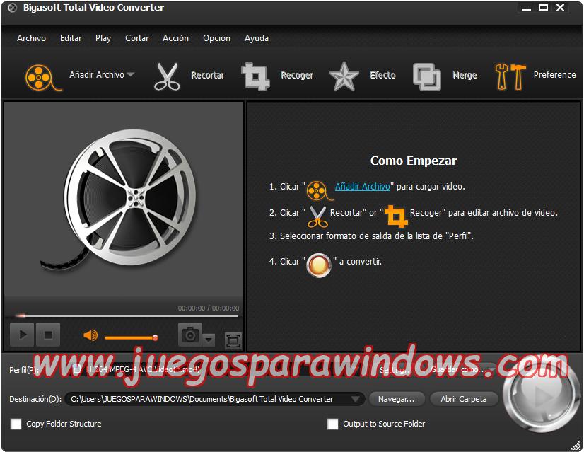 Bigasoft Total Video Converter v4.4.2.5399 Multilenguaje ESPAÑOL Convierte Archivos De Video y Audio a Otros Formatos 2