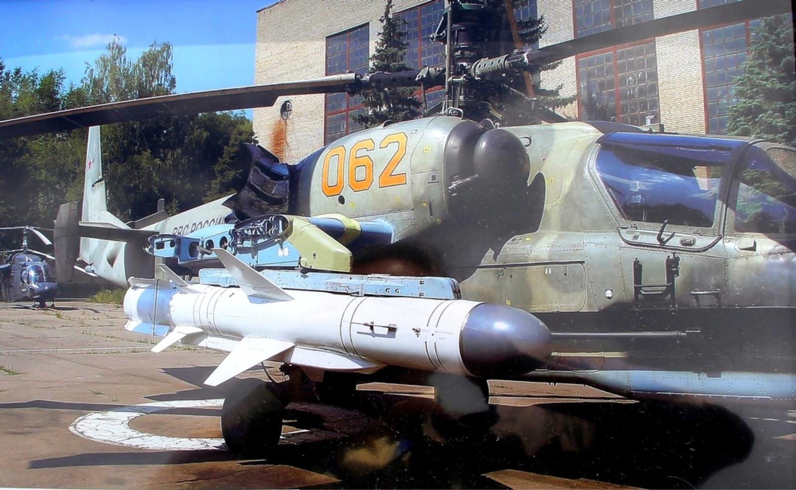 Helikopter Ka-52K menerima rudal super X-35