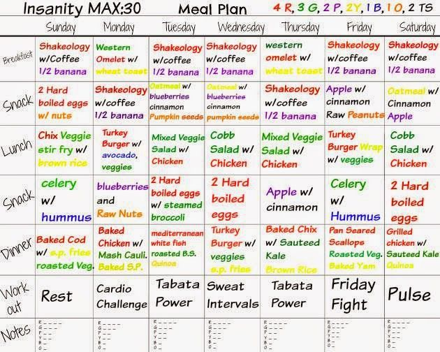 Sample Meal Plans Shape Your Life - meal plans