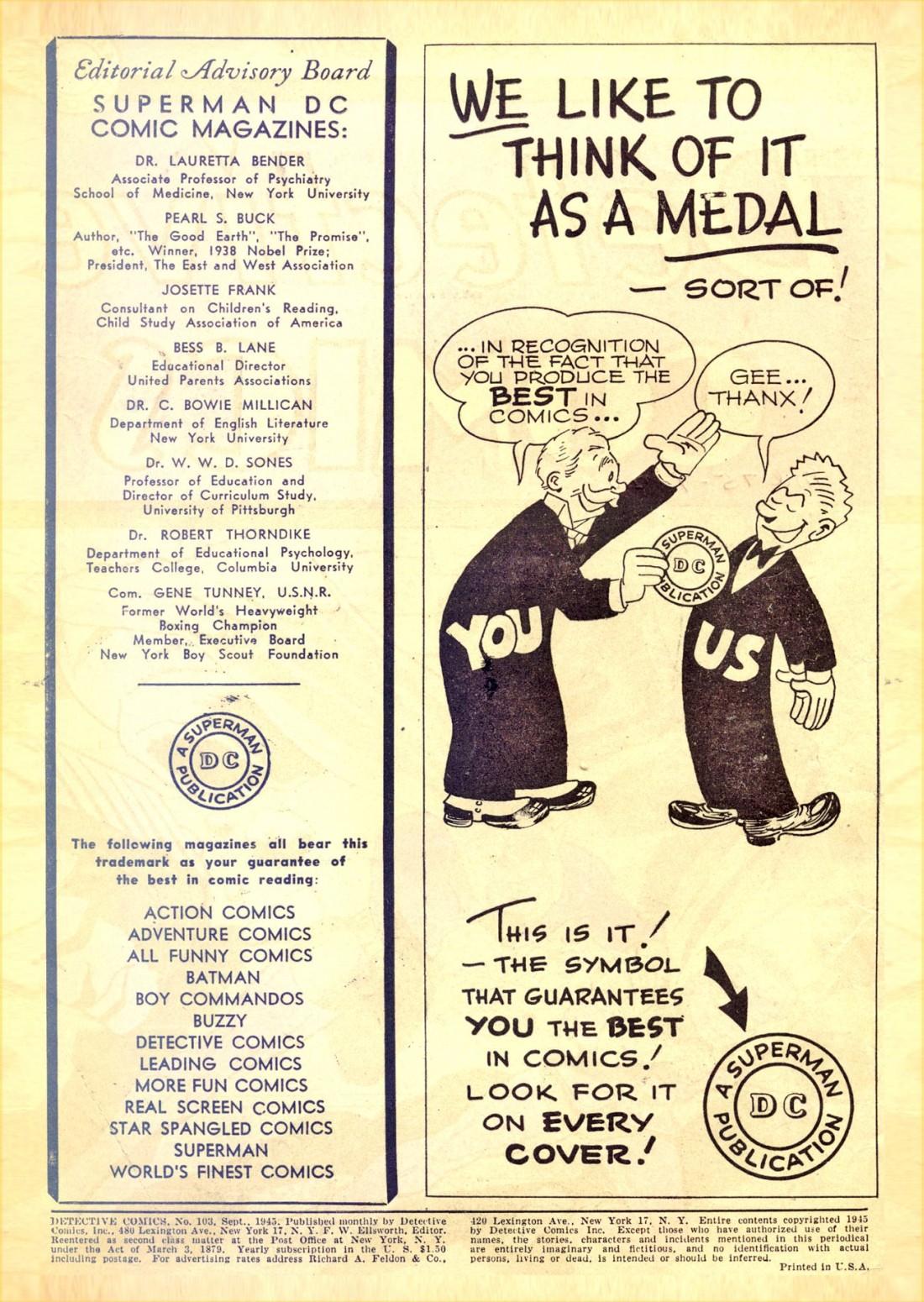 Read online Detective Comics (1937) comic -  Issue #103 - 2