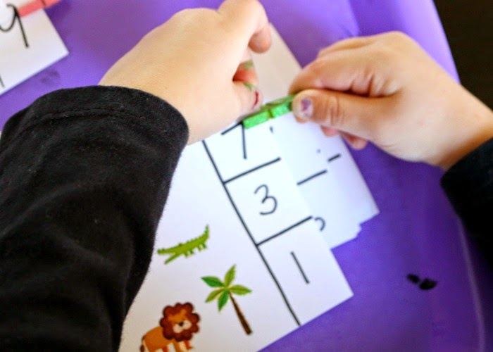 make your own preschool counting clip cards