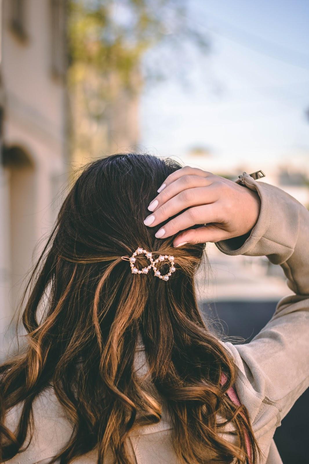 tendance barrette perles
