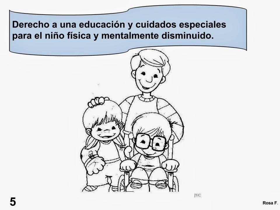 Maestra De Primaria Los Derechos Del Niño Carteles Para Colorear