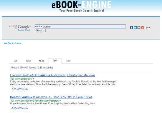 mesin peninjau ebook online