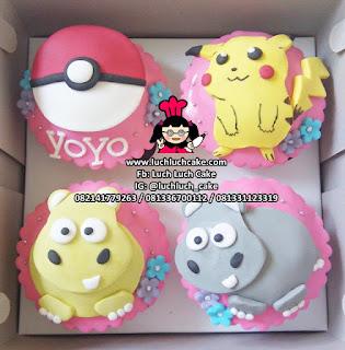 Cupcake Fondant 2d Pokemon Pikachu