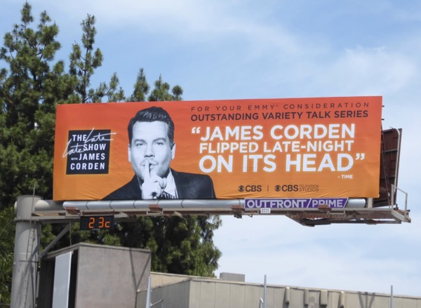 Late Show James Corden 2017 Emmy billboard
