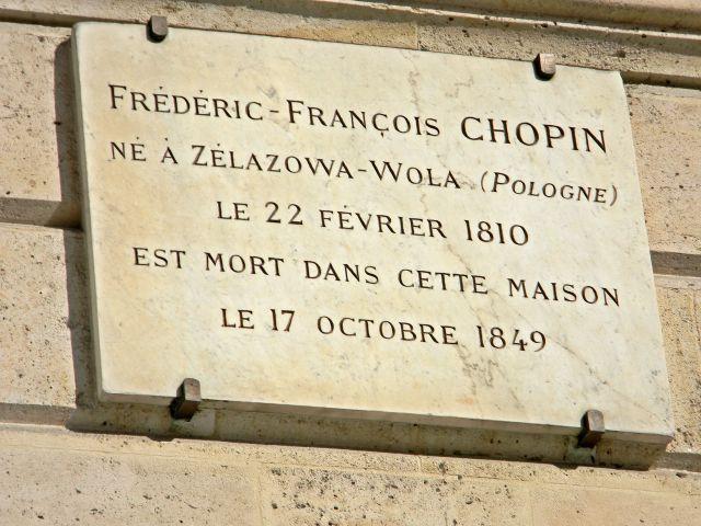 polscy artyści, dom Chopina w Paryżu