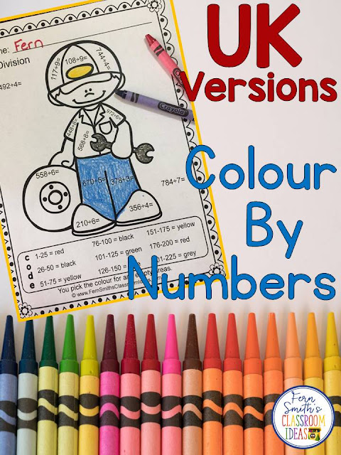 Do you teach in the UK or Australia? Many of my Color By Numbers and Color By Codes come in the UK friendly version with GREY for GRAY and COLOUR for COLOR. #FernSmithsClassroomIdeas