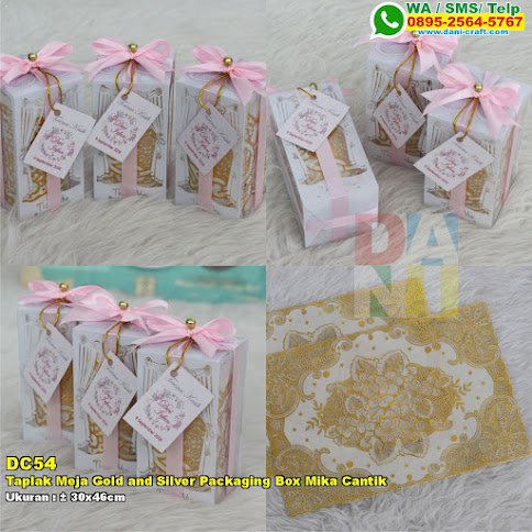 Taplak Meja Gold And Silver Packaging Box Mika Cantik